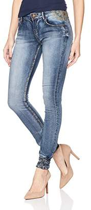 Desigual Women's Lysiane Embroidered Detail Denim Trousers