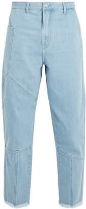 Marques Almeida MARQUES'ALMEIDA Panelled frayed-cuff denim jeans