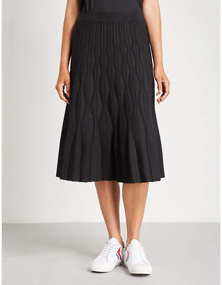 Sandro A-line high waist knitted skirt