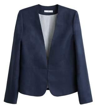 MANGO Linen balzer suit