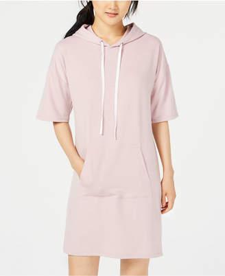 Material Girl Juniors' Short-Sleeve Hoodie Dress