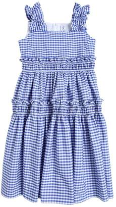 Simonetta Cotton Gingham Long Dress