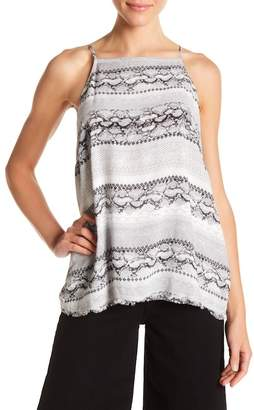 Bella Dahl Lace-Up Back Printed Tank