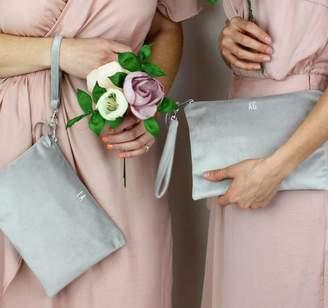 Suede&Co Bridesmaids Velvet Clutch Bag Set Of Four