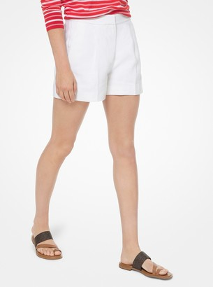 MICHAEL Michael Kors Washed Linen Pleated Shorts