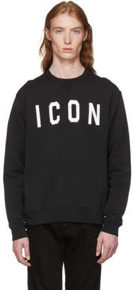 DSQUARED2 Black Icon Crewneck Sweatshirt