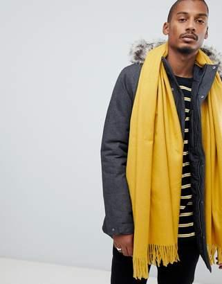 Asos Design DESIGN blanket scarf in mustard