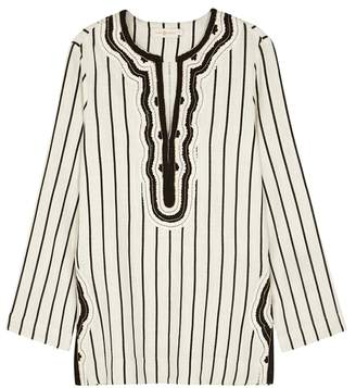 Tory Burch Tory Striped Embroidered Tunic