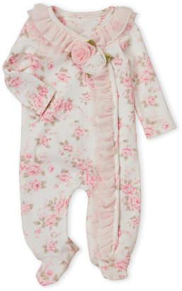 Baby Essentials Miniclasix (Newborn Girls) Rose Ruffle Footie