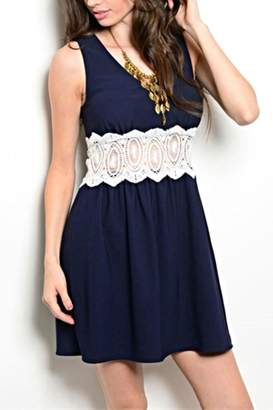 Sage Navy Lace Dress