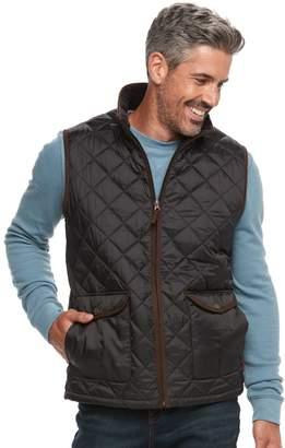 Caribbean Joe Men's Fleece-Lined Quilted Vest