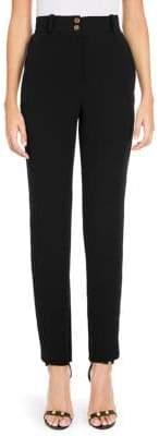 Versace Silk High Waisted Pants