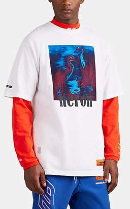 Heron Preston Men's Heron-Graphic Cotton T-Shirt - White