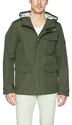 Bass GH Men's Arctic Cloth Hooded Waterproof Mid Length Rain Jacket