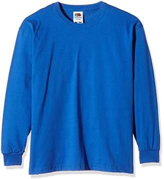 Fruit of the Loom Unisex Kids Valueweight Long Sleeve T-Shirt,(Manufacturer Size:36)