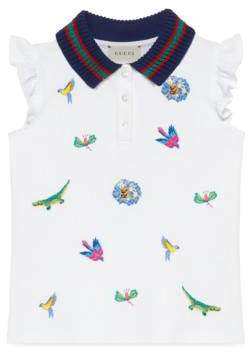 Gucci Children's embroidered polo