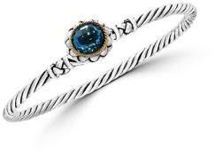 Effy Gemstone, 18K Yellow Gold and Sterling Silver Bangle Bracelet