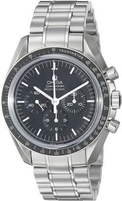 Omega Men's 31130423001005 Speedmaster Analog Display Mechanical Hand Wind Silver Watch