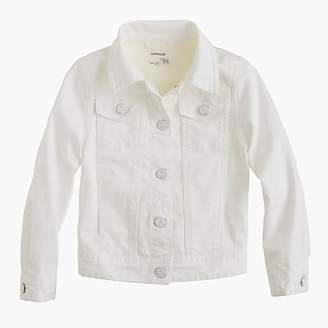 J.Crew Girls' white denim jacket