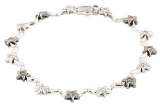18K Diamond Star Link Bracelet