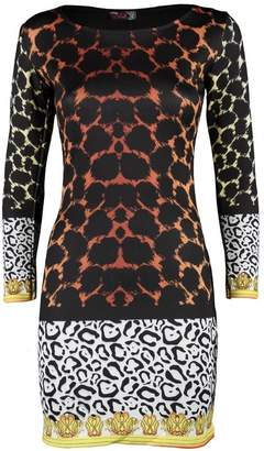 VIP Womens Plus Size Leopard Print Nicky Minaj Dress (MTC) ((us) (uk 16/18), )