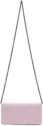 Bottega Veneta Pink Intrecciato Chain Wallet Bag