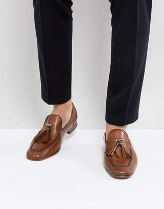 Jeffery West Martini Tassel Loafers In Tan