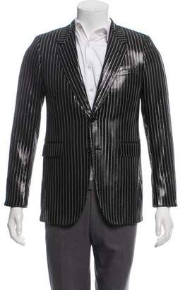 Saint Laurent Striped Metallic Blazer