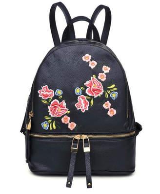Urban Expressions Black Rose Backpack