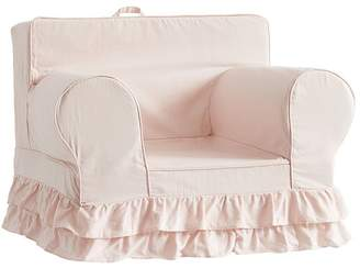 Pottery Barn Kids Dusty Blush Ruffle Anywhere Chair® Slipcover Only