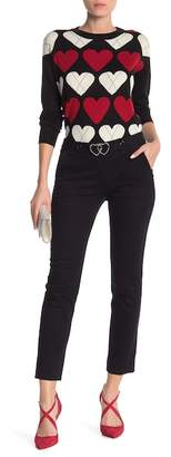 Love Moschino Front Logo Buckle Solid Pants