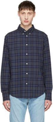Rag & Bone Navy Checked Tomlin Shirt