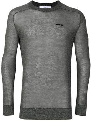 Givenchy devoré semi-sheer jumper