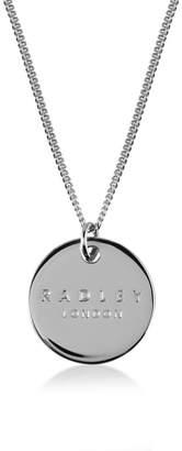 Radley Silver 'Broad Street' Disc Pendant Necklace