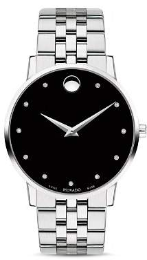 Movado Museum Classic Stainless Steel Diamond-Index Watch, 40mm
