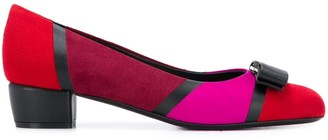 Salvatore Ferragamo Varina patchwork pumps