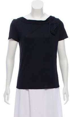 Christian Dior Gathered Silk-Blend Top