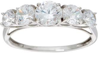 Diamonique Graduated Stone Band Ring, 14K Gold