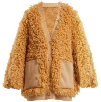 Roksanda Sophina Curly Wool Cardigan - Womens - Beige