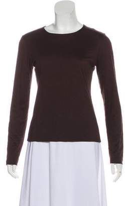 Valentino Scoop Neck Long Sleeve Top