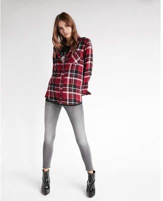 Express one pocket flannel boyfriend shirt
