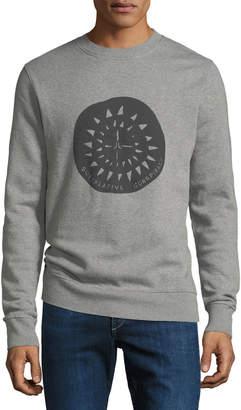 Wesc Theme-Print Crewneck Sweatshirt