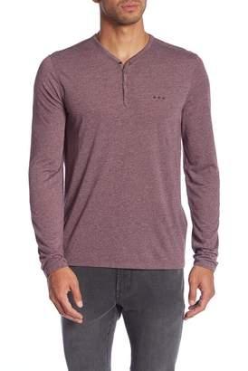 John Varvatos Henley Snap Front Shirt