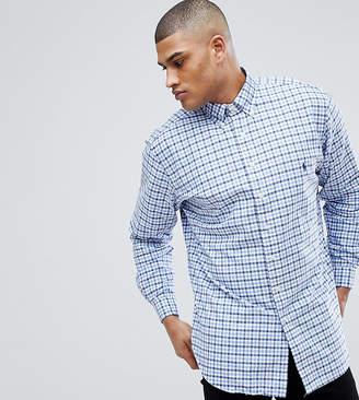 Polo Ralph Lauren Big & Tall Gingham Check Oxford Shirt In Blue/White
