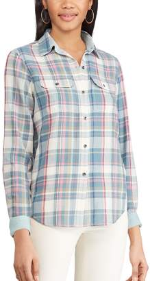 Chaps Petite Plaid Button-Down Work Shirt