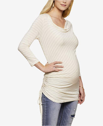 Jessica Simpson Maternity Cowl-Neck Ruched Top