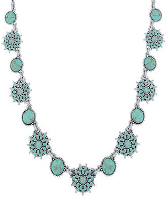 Lucky Brand Turquoise Crystal and Calcite Collar Necklace