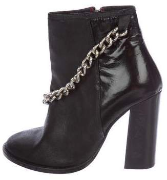 Opening Ceremony Round-Toe Chain-Link Ankle Boots