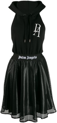 Palm Angels open back hoodie dress
