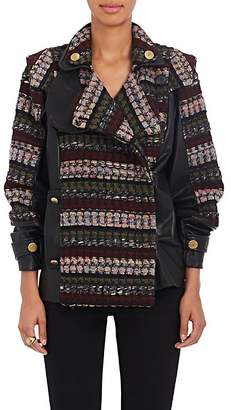 Mayle Maison MAISON WOMEN'S MARLO WOOL-BLEND & FAUX-LEATHER MOTO JACKET